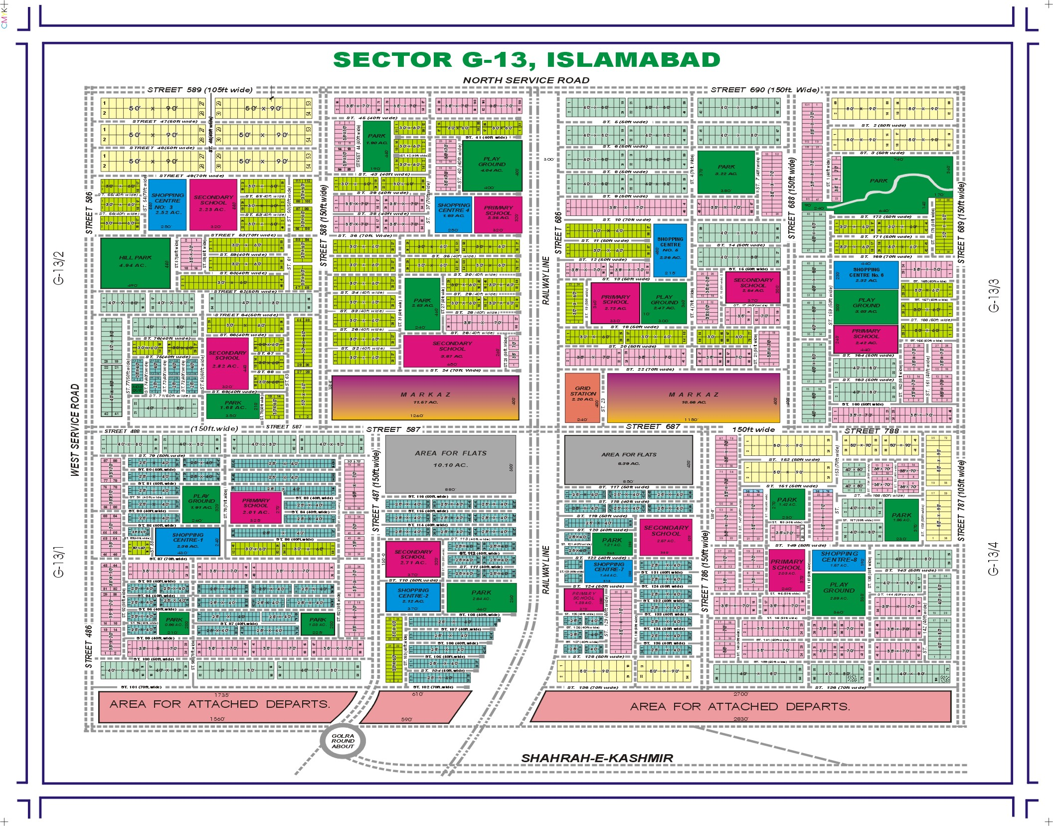 x prime location plot in sector g islamabad for sale - check g islamabad map