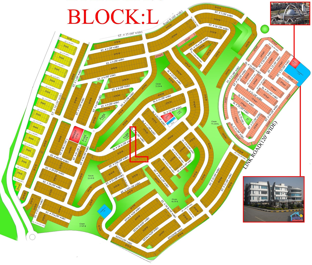 Bahria Town Islamabad Phase 8: 10 Marla Corner Plot Bahria Town Phase 8 Sector L
