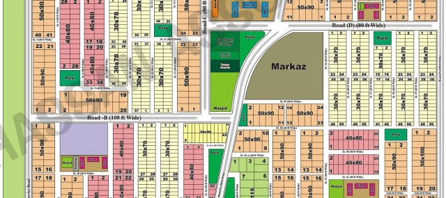 Sector-d17-margalla-view-housing-society-islamabad-map