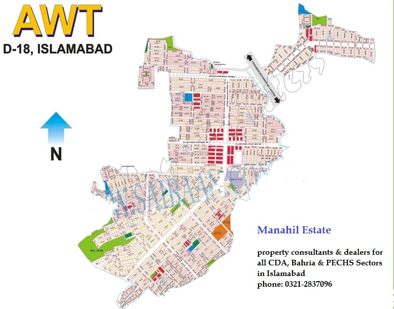 1 kanal plot available in block d awt d-18 islamabad.