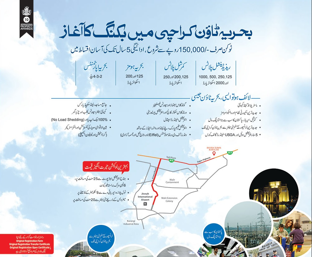 Bahria Town Karachi Booking Details, Features and Prices