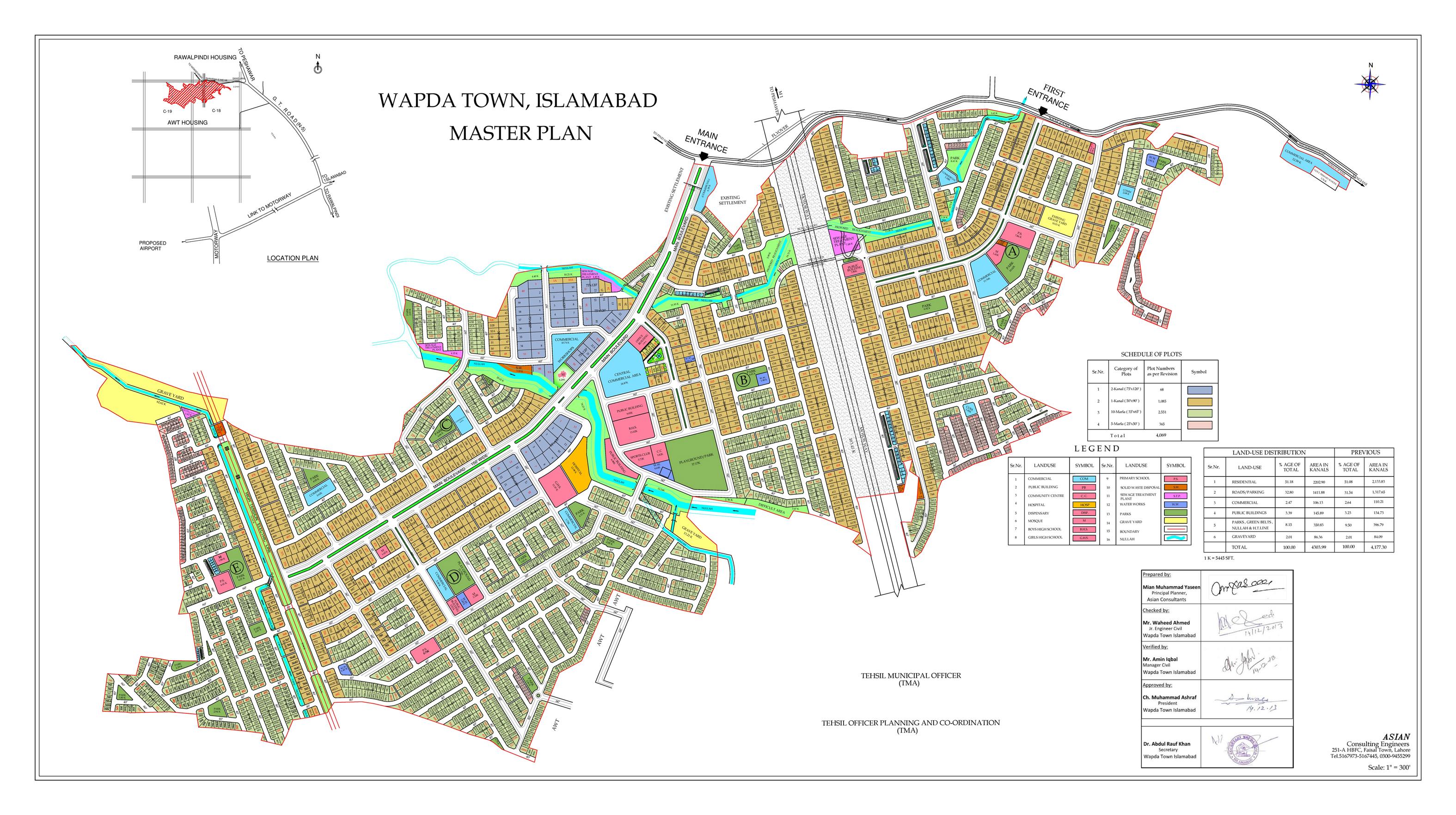 wapda-town-islamabad-map