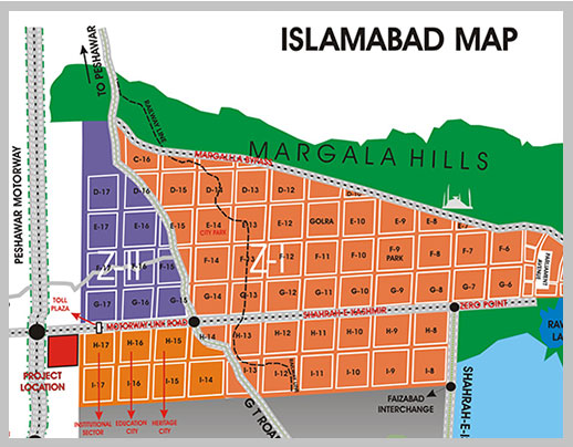 Layout Maps of Islamabad Sectors and Societies - Manahil Estate