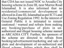 CDA-Notice-Arcadia-City-Islamabad