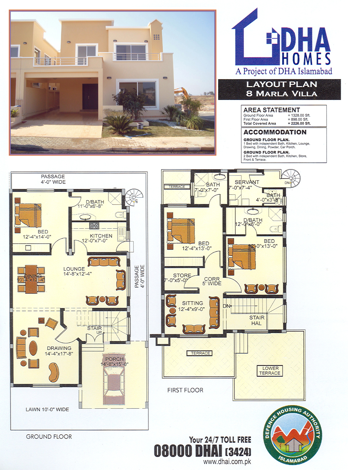 DHA Homes Islamabad Location, Layout Floor Plan and Prices
