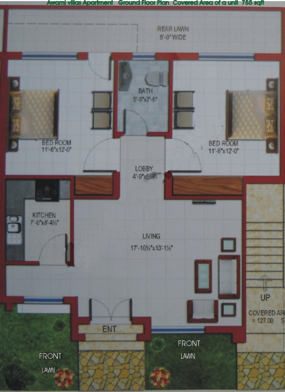 Awami villas 3 second floor premier structure apartment for Apartment design map