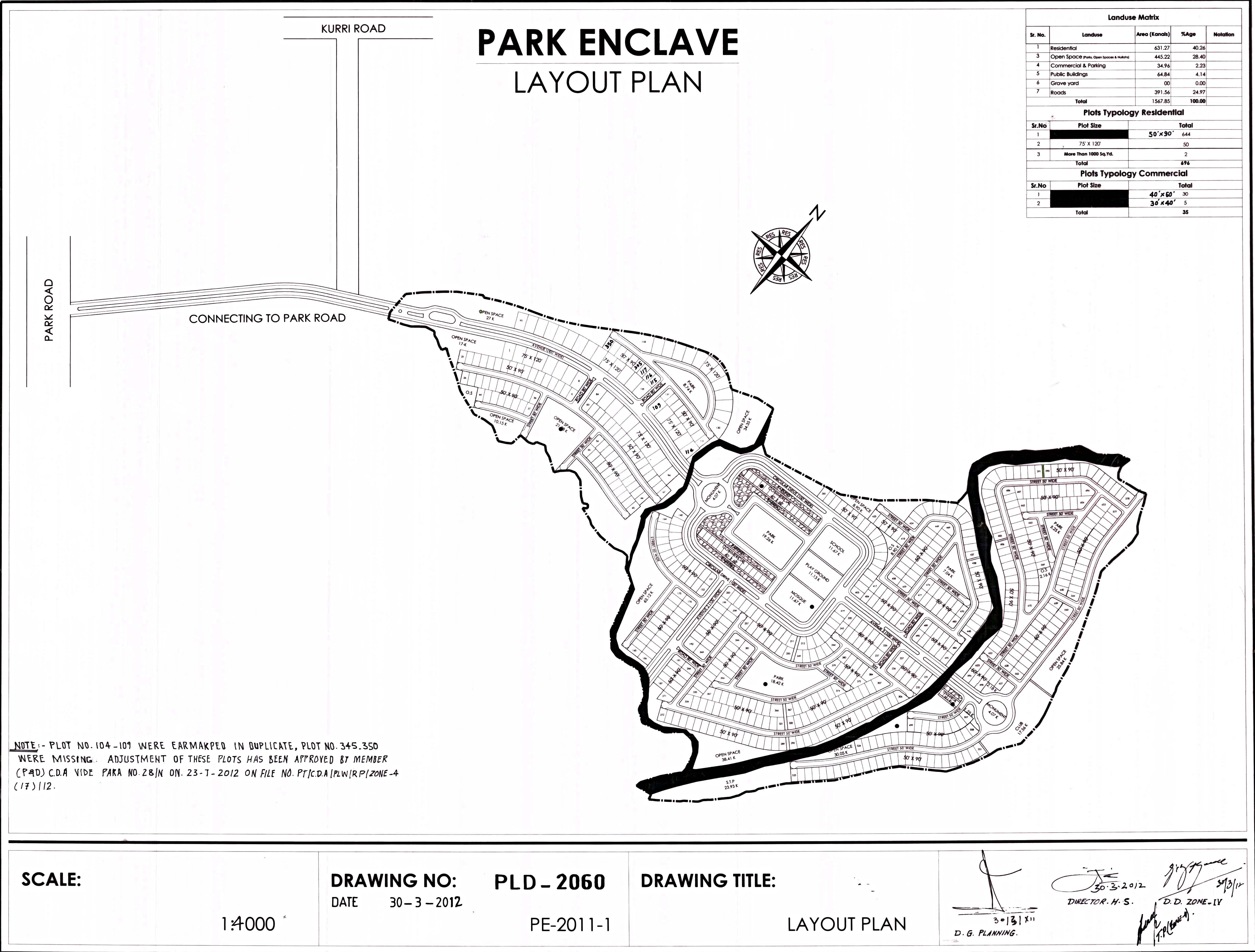 1 kanal residential plot in park enclave islamabad for sale