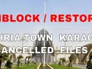 Unblock Bahria Town Karachi Files