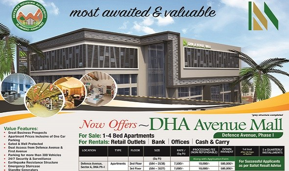 DHA Avenue Mall Phase 1 Islamabad Booking and Payment