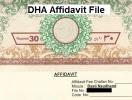 DHA Affidavit File