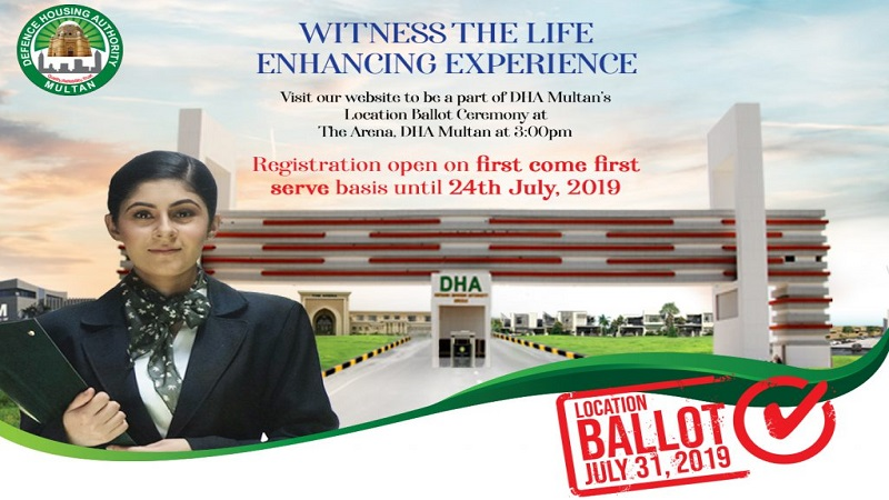 DHA Multan Opens Online Registration for Location Ballot Ceremony
