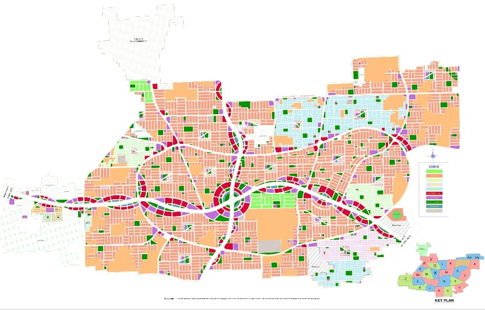 DHA Multan Complete Sector Maps and Master Plan Map