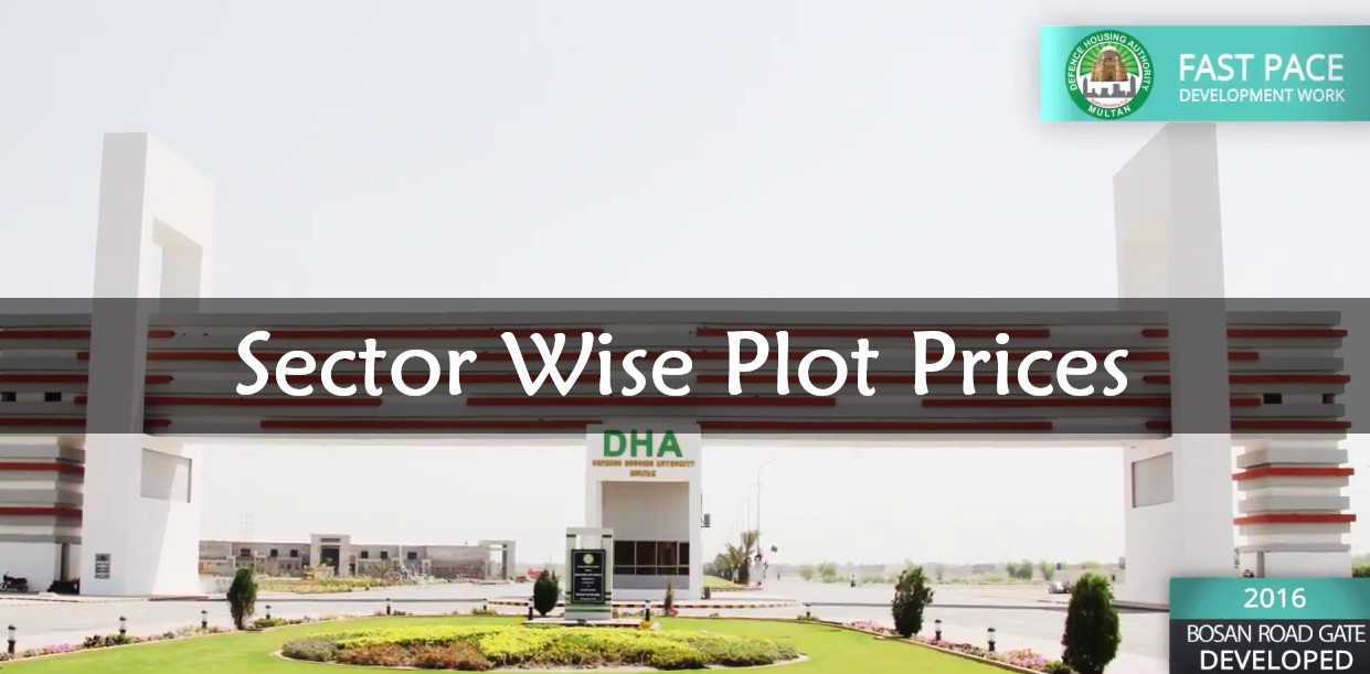 DHA Multan Sector-Wise Estimated Plot Prices